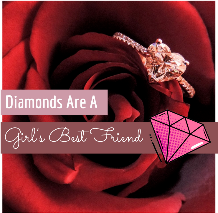 diamond jewelery girl's best friend